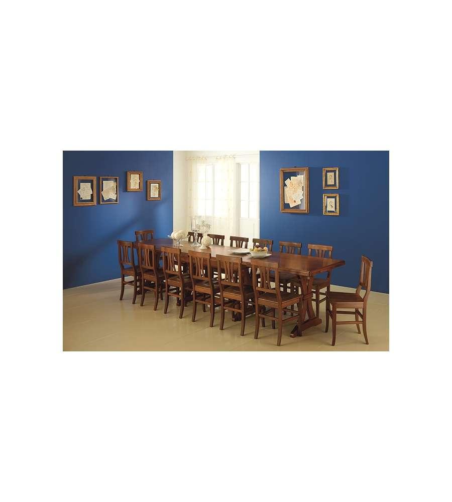 Offerte Tavoli Allungabili Legno.Offerta Tavolo Estensibile 180 360 Cm Colore Noce