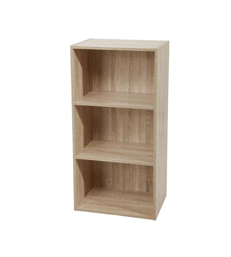 Libreria Profondità 15 Cm libreria 3 ripiani 40 x 29 x 80 h cm naturale