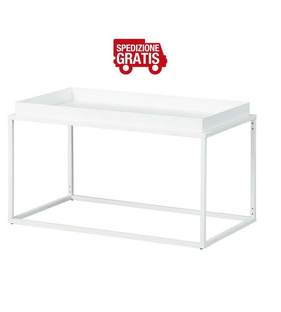 Tavolino Club New York 80 x 45 x 45 Metal Bianco