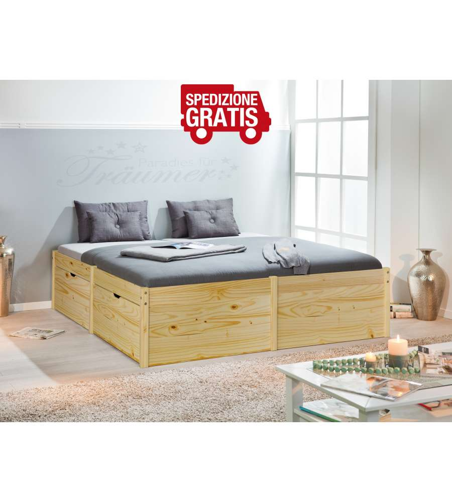 Letto King Size Lausanne 180 x 200 Naturale
