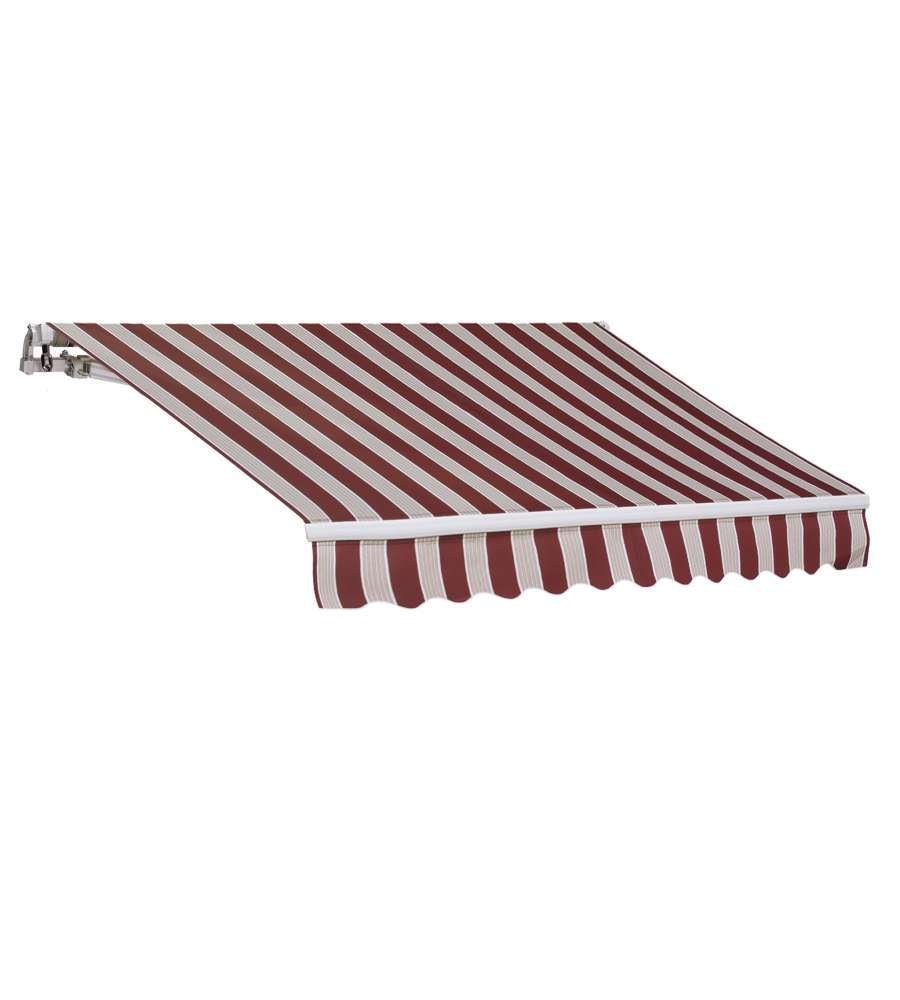 Tenda da sole 200 x 300 rigato bordeaux