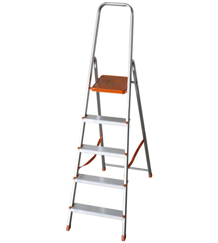 Altezza Gradini Scala scala casalinga 5 gradini alluminio
