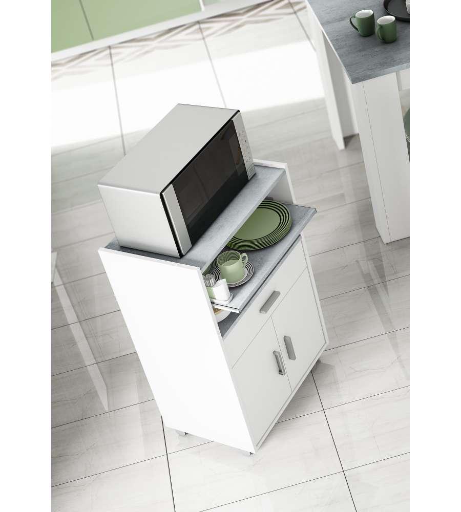 Mobiletto Per Appoggiare Microonde mobiletto microonde 92 x 59 x 40 cm bianco