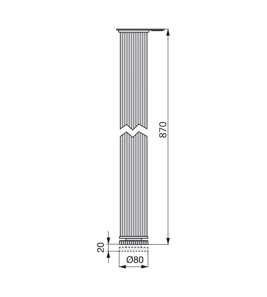 Gambe In Alluminio Per Tavoli.Offerta Emuca Gambe Per Tavolo D 80 Mm Alluminio