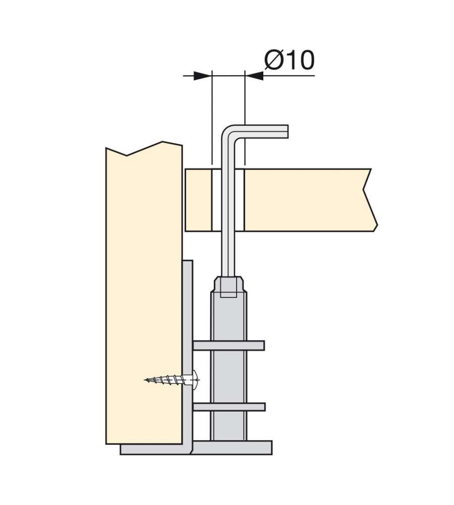 Emuca 10 Piedini Regolabili Per Mobile M10