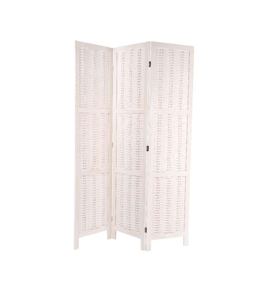 Paravento legno bianco 120 x 170 h cm