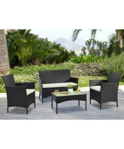 Set polirattan Nero Alicante