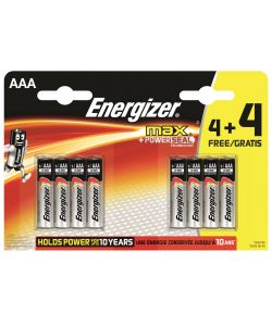 Batterie ministilo AAA Energizer Max 4+4