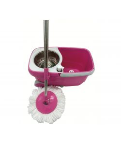Spin mop con ruote rosa
