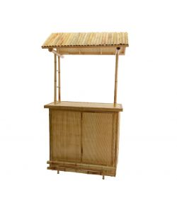 Mobile bar in bamboo 61 x 120 x 225 h cm